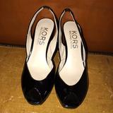 Michael Kors Shoes   Michael Kors Sling Back Peep Toe Wedges   Color: Black   Size: 8