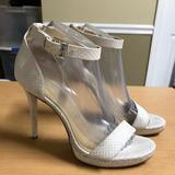 Michael Kors Shoes | Michael Kors White Stiletto Heel Ankle Strap | Color: White | Size: 8.5
