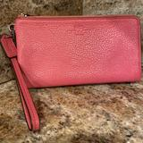 Coach Bags | Coach Authentic All Leather Big Wallet Or Clutch!! | Color: Pink | Size: Oversized Wallet, Clutch Or Mini Purse!