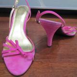 J. Crew Shoes   J. Crew Lucie Suede High Heel Slingback Sandals   Color: Pink   Size: 6