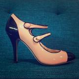 J. Crew Shoes | J. Crew Mary Jane Double Strap 7.5 | Color: Black/Cream | Size: 7.5