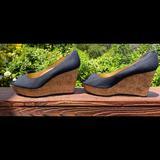 Nine West Shoes   Nine West Peep Toe Wedges   Color: Black   Size: 9.5