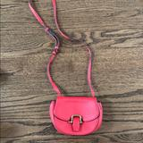 J. Crew Bags | Jcred Red Leather Crossbody Bag | Color: Red | Size: Os