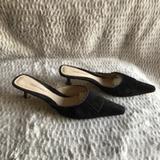 Nine West Shoes | Nine West Brown Suede Mules Size 8 12 M | Color: Brown | Size: 8.5