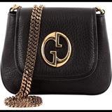 Gucci Bags | Gucci Crossbody Handbag 1973 Black Leather New | Color: Black | Size: Os
