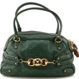 Gucci Bags | Gucci Boston Bag Guccissima Wave Green Leather | Color: Green | Size: 7.25 H X 6.75 W X 15.5 L