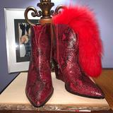 Jessica Simpson Shoes | Cowboy Snake Boots | Color: Red | Size: 7.5