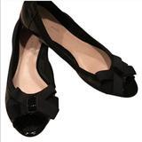 Kate Spade Shoes   Kate Spade Womens Peep Toe Flat Sz 7   Color: Black   Size: 7