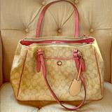 Coach Bags   Coach Peyton Signature Double Zip Carryall   Color: Pink/Tan   Size: Os
