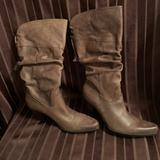 Nine West Shoes | Nine West High Heel Brown Cowboy Boot Wt Tassel | Color: Brown | Size: 8.5