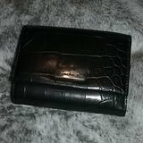 Nine West Bags | Nine West Tri-Fold Wallet | Color: Black/Silver | Size: Os