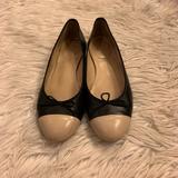 J. Crew Shoes | J. Crew Kiki Cap Toe Ballet Flats | Color: Black/Cream | Size: 7