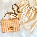 J. Crew Bags | J.Crew Quilted Leather Chain Crossbody Handbag | Color: Pink/Tan | Size: Os