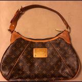 Louis Vuitton Bags   Louis Vuitton Thames Handbag Brown Leather Bag   Color: Brown   Size: Approximately 9h X 15l X 2.15w