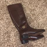 Michael Kors Shoes | Michael Kors Leather Riding Boots | Color: Brown/Tan | Size: 8