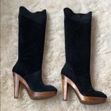 Michael Kors Shoes   Michael Kors Suede Knee High Boots Sz 8   Color: Black   Size: 8