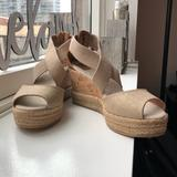 Tory Burch Shoes   New Tory Burch Peep-Toe Cork Wedges - Size 7.5   Color: Cream/Gold   Size: 7.5