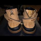 Polo By Ralph Lauren Shoes | Infant Polo Boots | Color: Black/Tan | Size: 5bb