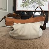 Coach Bags | Coach Pleated Creamy White And Camel Leather Hobo | Color: Tan/White | Size: Os