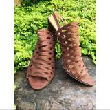 Nine West Shoes | Nine West Suede Heels | Color: Tan | Size: 9.5