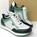 Michael Kors Shoes | Michael Kors Maddy Trainer Canvas Racing Green W | Color: Green/White | Size: Various