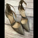 Jessica Simpson Shoes   Jessica Simpson 11 Dorsay Gold Heels Pointed Toe   Color: Gold   Size: 11