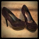 Jessica Simpson Shoes | Jessica Simpson Stiletto Stacked Heels. Size 6.5 | Color: Purple | Size: 6.5