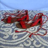 Madewell Shoes   Madewell Lace Up Gladiator Sandals   Color: Red   Size: 5
