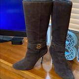 Michael Kors Shoes | Michael Kors Knee High Heel Boots | Color: Brown | Size: 8