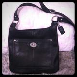 Coach Bags   Reduced Coach Leather Crossbody Bag   Color: Black   Size: Os