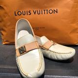 Louis Vuitton Shoes | Louis Vuitton Leather Slip-On | Color: Gold/Yellow | Size: 9