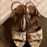 Gucci Shoes | Gucci Platform Sandal | Color: White | Size: 8.5
