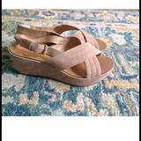 J. Crew Shoes | J Crew Tan Suede Platform Sandals Womans 10 | Color: Tan | Size: 10