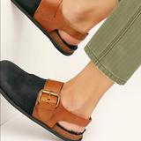 Free People Shoes | Nwb Free People Seattle Sling Back Flat Sz37 | Color: Black | Size: 7