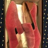 J. Crew Shoes | J. Crew Womens Suede Pink Smoking Loafers | Color: Pink | Size: 7.5