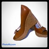 Jessica Simpson Shoes | Jessica Simpson Platform Wedge | Color: Brown/Tan | Size: 10