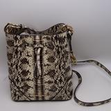 Michael Kors Bags | Michael Kors Nicole Small Bucket Bag In Natural | Color: Gold/Red | Size: Os