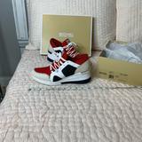 Michael Kors Shoes | Michael Kors Liv Trainer Platform Wedge Sneaker | Color: Red | Size: 10