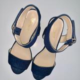 Nine West Shoes | Nike West Riley Denim Sandal | Color: Blue | Size: 8.5