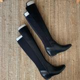 Nine West Shoes | Nine West Knee High Black Leather Boots Size 8 | Color: Black | Size: 8