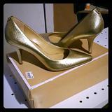 Michael Kors Shoes   Mk Gold Heels   Color: Gold   Size: 8
