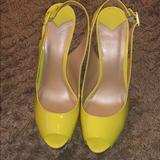 Nine West Shoes   Nine West Peep Toe Wedge   Color: Yellow   Size: 11
