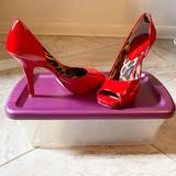 Jessica Simpson Shoes   Jessica Simpson Red Peep Toe Heels Size 7   Color: Red   Size: 7