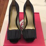Nine West Shoes | Nine West Black Satin Dress Shoes | Color: Black | Size: 8