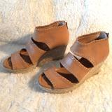 Anthropologie Shoes | Corso Como Joyce Espadrille Wedge Sandal Size 9 | Color: Tan | Size: 9