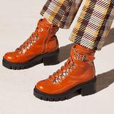 Free People Shoes   Nib Free People Jeffrey Campbell Camel Combat Boot   Color: Black/Orange   Size: 7
