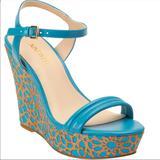 Nine West Shoes | Hp Nine West Junebugo Platform Wedge Sandals | Color: Blue/Green | Size: 8.5