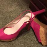 Nine West Shoes   Ladies High Heel Peep Toe Sling Back   Color: Pink   Size: 8