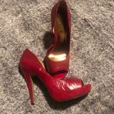 Jessica Simpson Shoes   Red Peep Toe Heel   Color: Red   Size: 7
