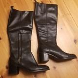 Nine West Shoes   Nine West Black Leather Knee High Boot   Color: Black   Size: 7.5